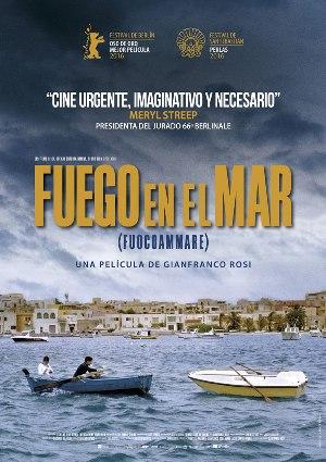 Fuego en el mar (Fuocoammare) - Cartel en español