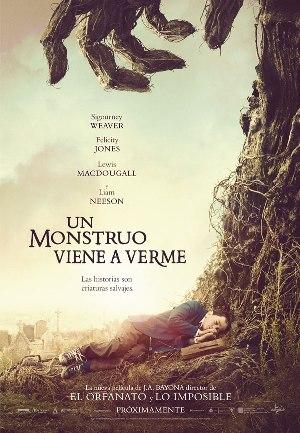 Un monstruo viene a verme - cartel de cine