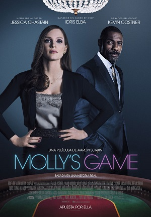 Molly's Game - cartel de cine