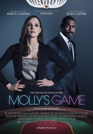 Molly's Game - cartel de cine